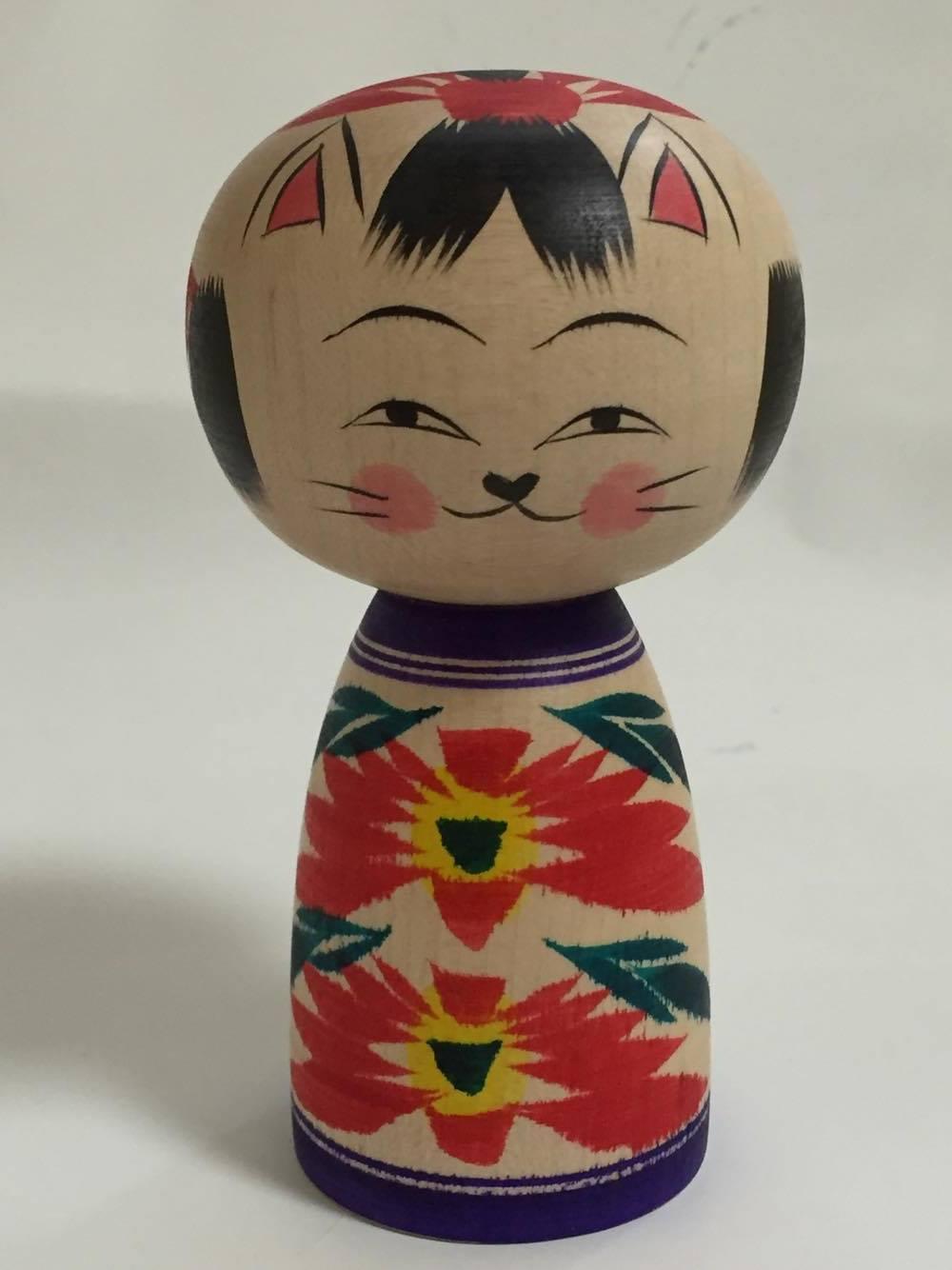 Cat kokeshi3