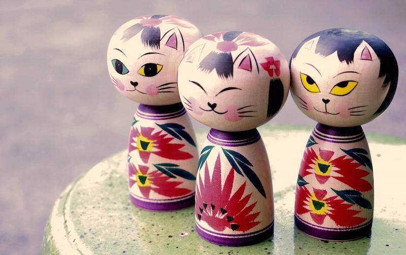 Cat kokeshi 2