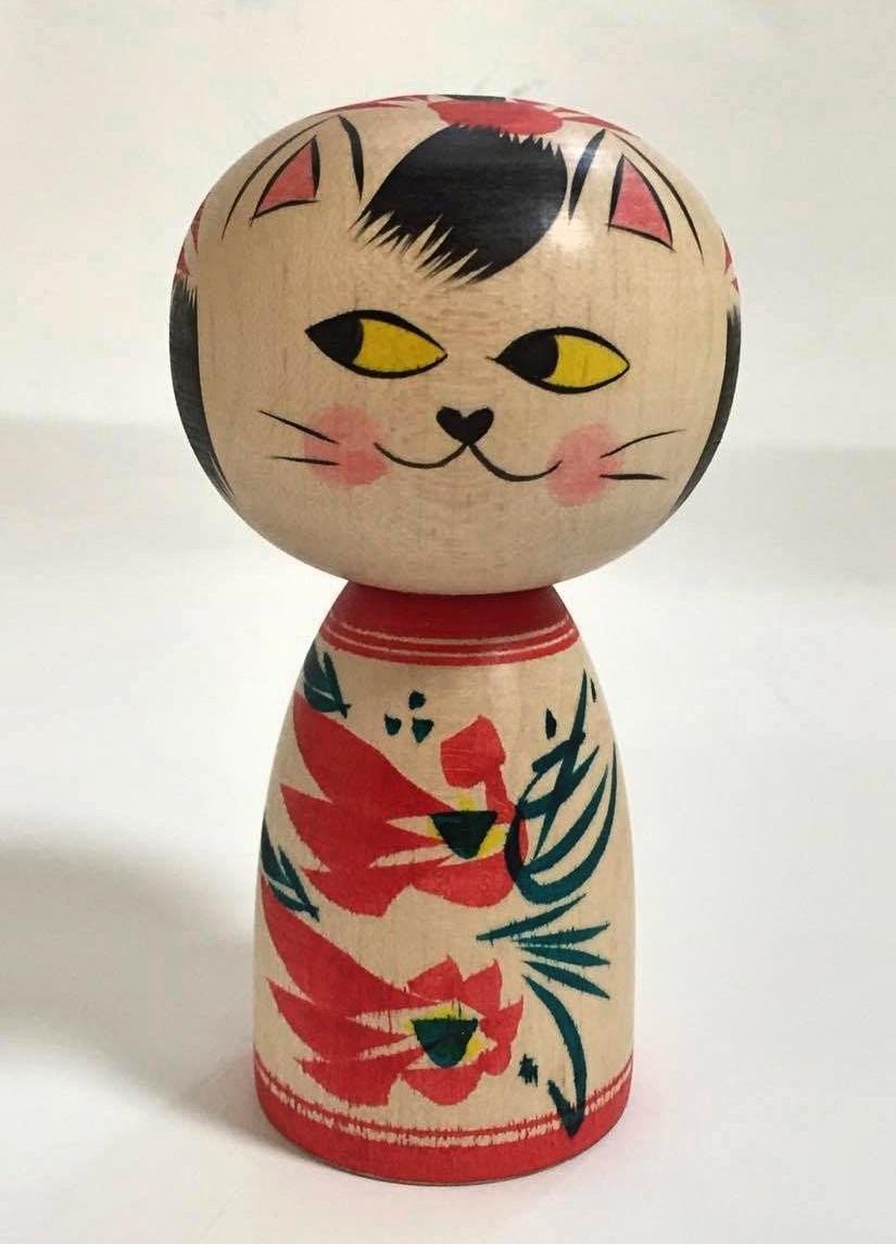 Cat kokeshi8