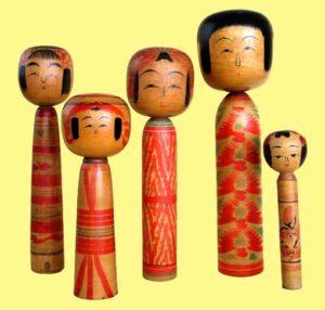 左より土湯系、弥治郎系、遠刈田系、蔵王高湯系、作並系