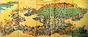 島原の乱図屏風(秋月郷土史館蔵)