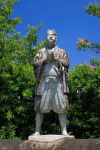 原城の天草四郎像 (長崎県南島原市南有馬町乙1023)